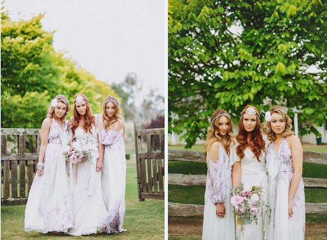 бохо свадьба платья подружек невесты фото