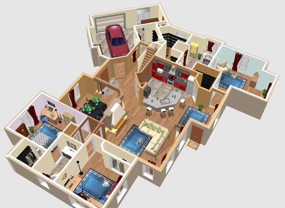 Sweethome3d 3d for Sweet home 3d cuisine