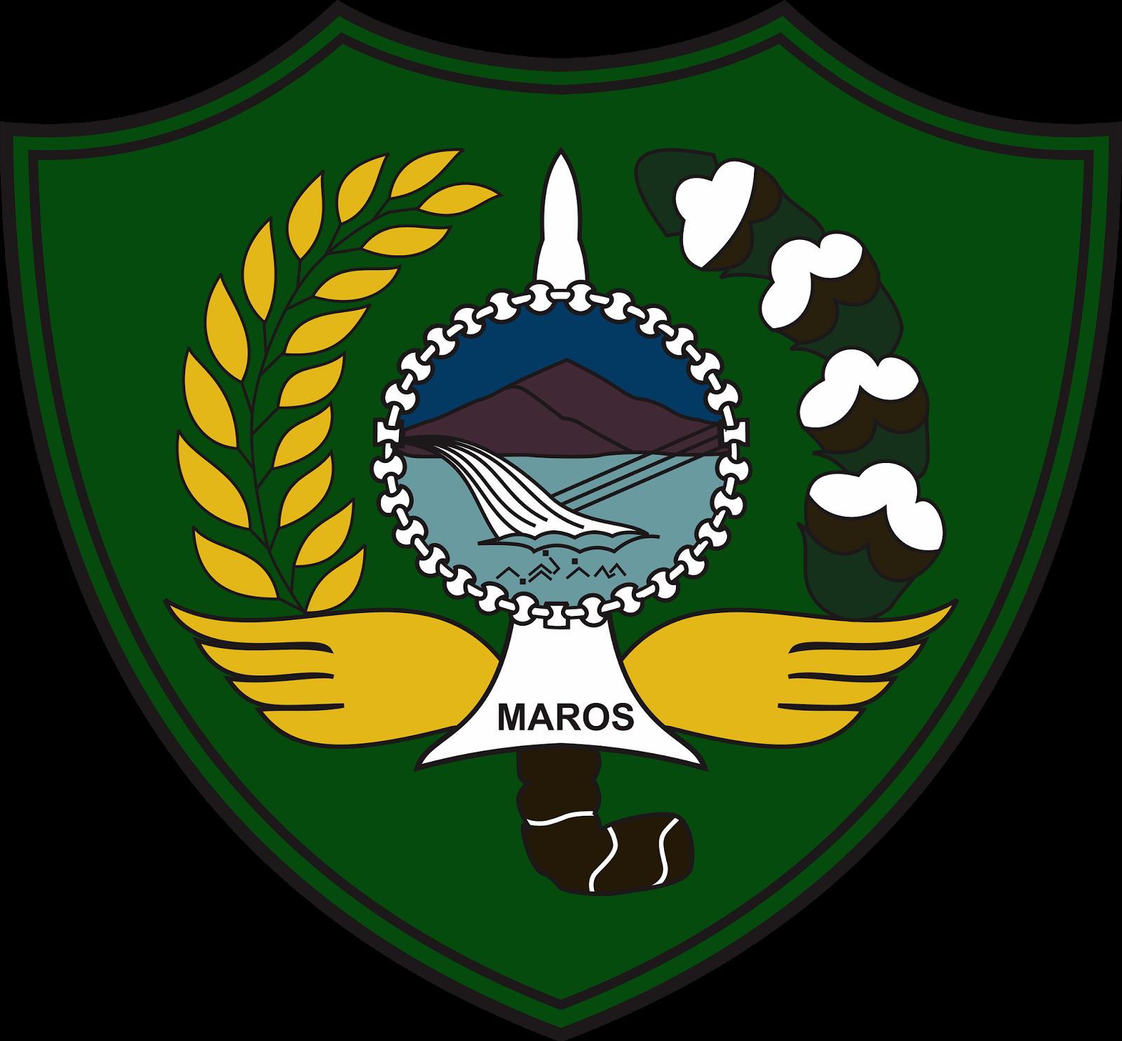 Logo Kabupaten Maros Terbaru Dan Maknanya Vector File Cdr Coreldraw Logo Vector