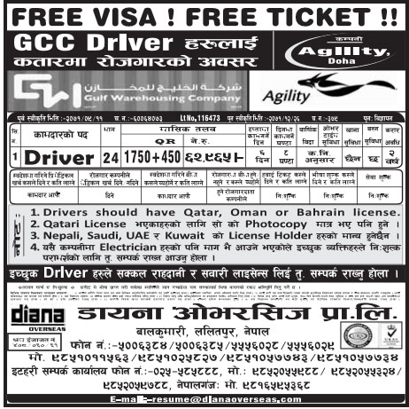 Free VISA Free Ticket Job Vacancy for GCC Drivers in Qatar, Salary Rs 62,965