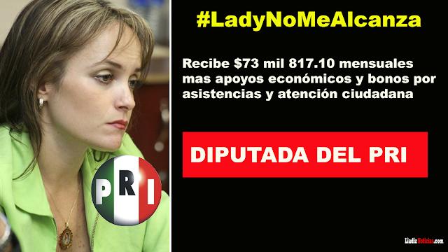 Diputada del PRI gana 534 mil pesos y dice que no le alcanza ese dinerito