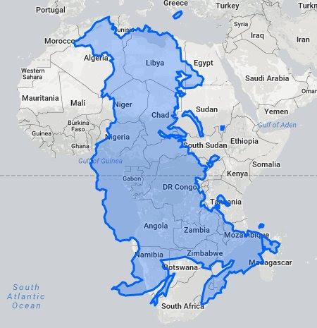 Africa is bigger!