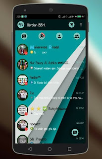 BBM Theme Neo Material Version 2.9.0.51 + Flash Lamp