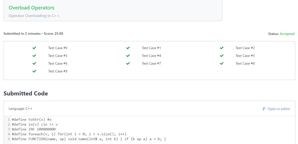 Hacker Rank solution forPreprocessor Solution In C++