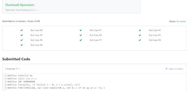 "Hacker Rank Solution Program In C++ For ""Preprocessor Solution"""