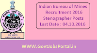 Indian Bureau of Mines Recruitment 2016
