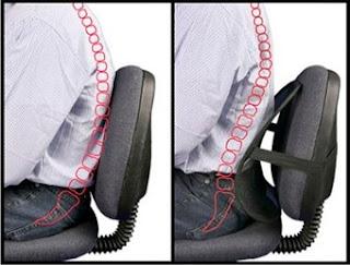 Postura na frente do computador: O Apoio na região baixa da coluna protege a articulação lombar
