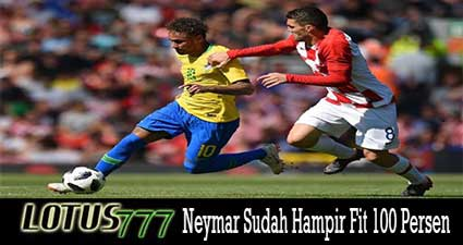 Kebugaran Neymar Sudah Hampir Fit 100 Persen