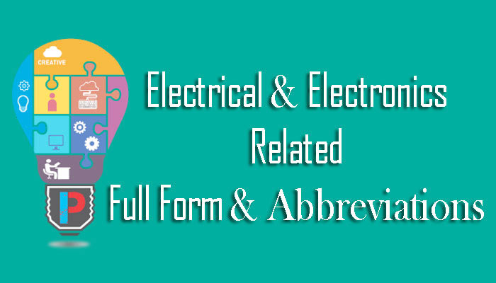 Electrical and Electronics Abbreviations Full forms in Hindi