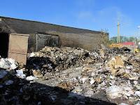 (ФОТО) Пожар в складском помещении