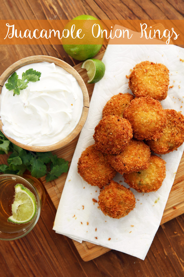 Guacamole Onion Rings #Recipes