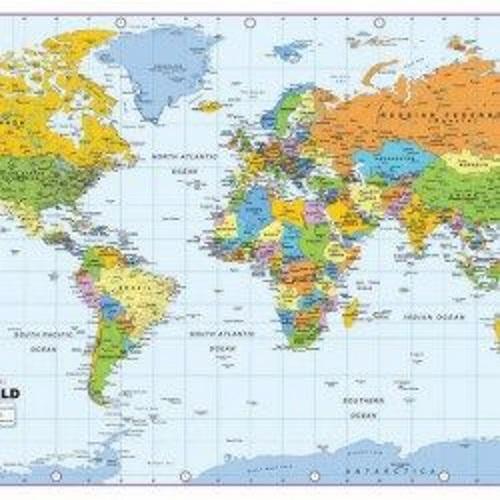 Mapa do mundo.