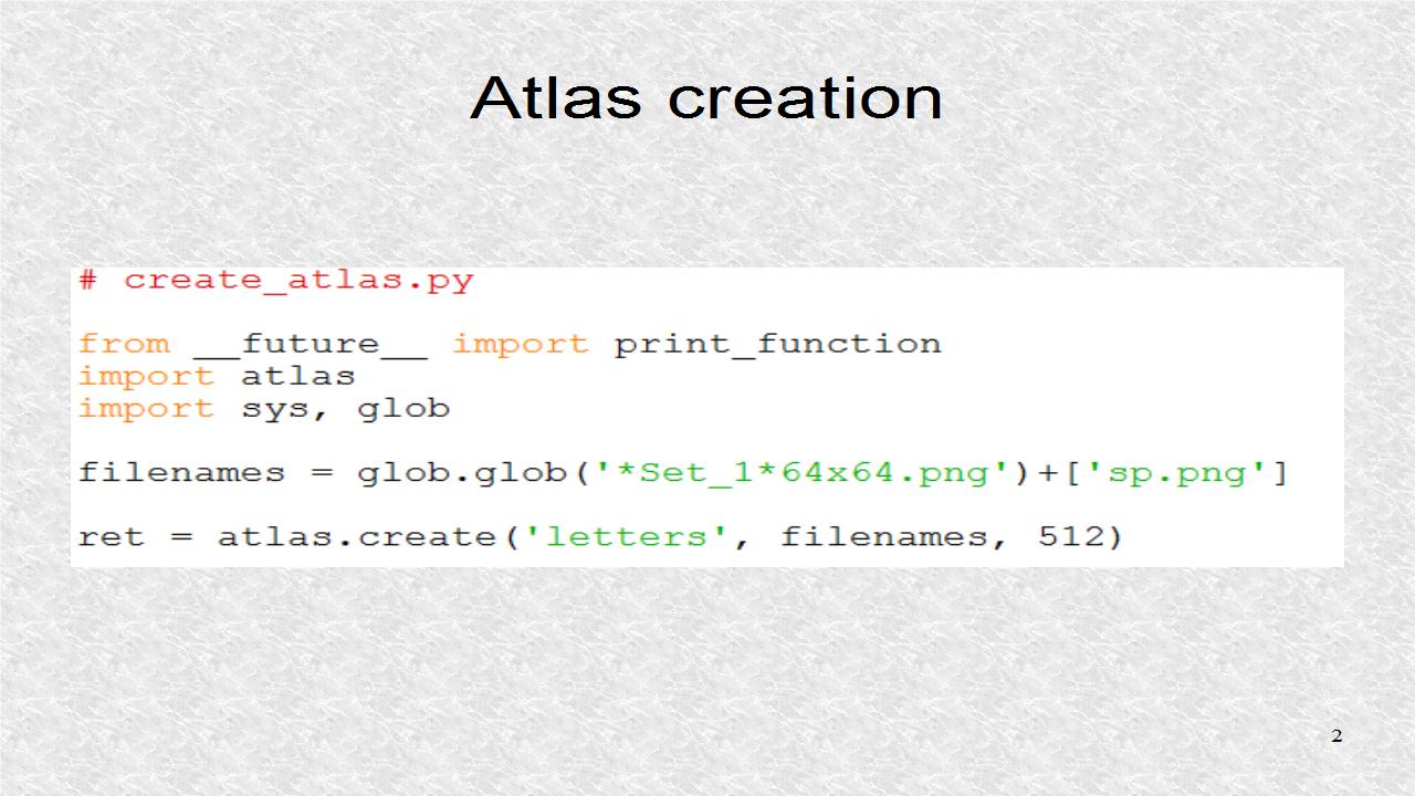 Mobile Programming in Python: 49  Using an Atlas