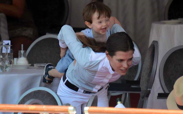 Princess Caroline of Hanover Charlotte Casiraghi and her son Raphael