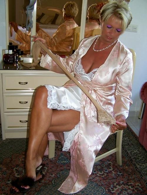 Very much busty women in slips