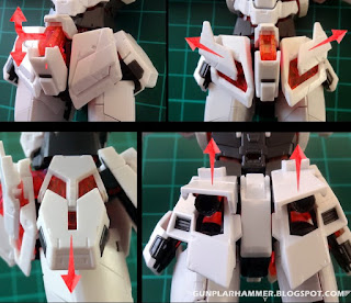 Transformation taille waist 1/144 RG Unicorn Gundam Review Français