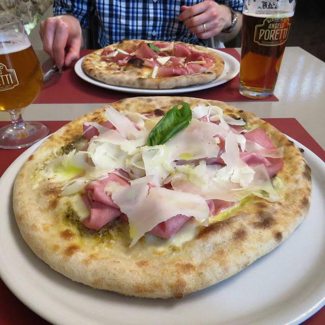 Sicilian Food - pizza with donkey mortadella
