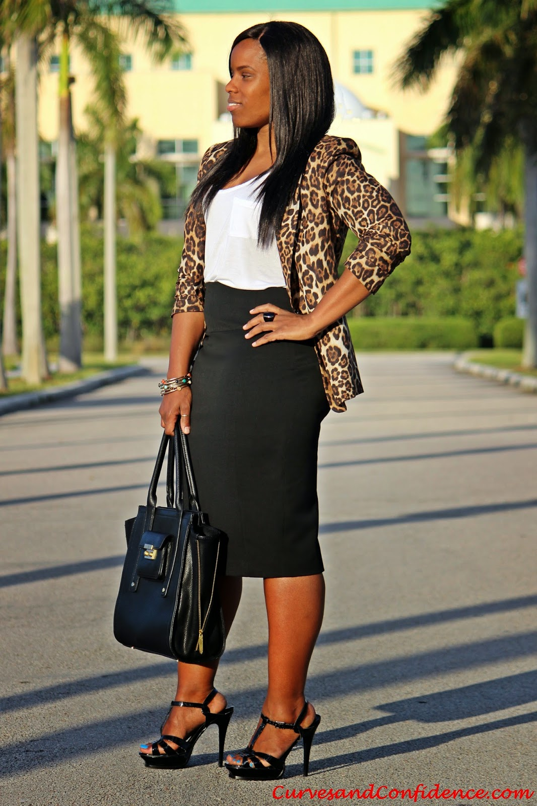 Curves And Confidence A Miami Style Blogger Black Amp Leopard