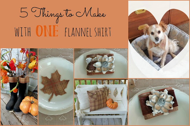 You can make so many different things with ONE flannel shirt!