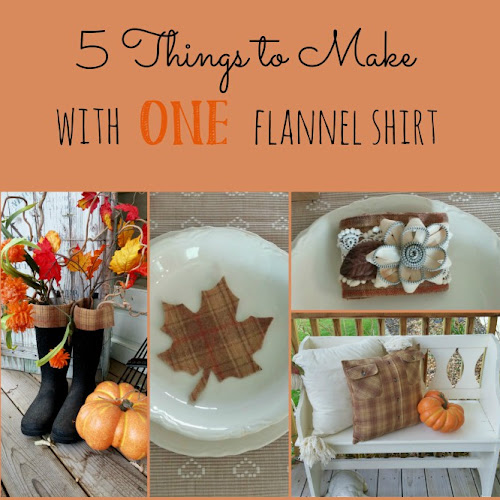 5 Things To Make With ONE Flannel Shirt!