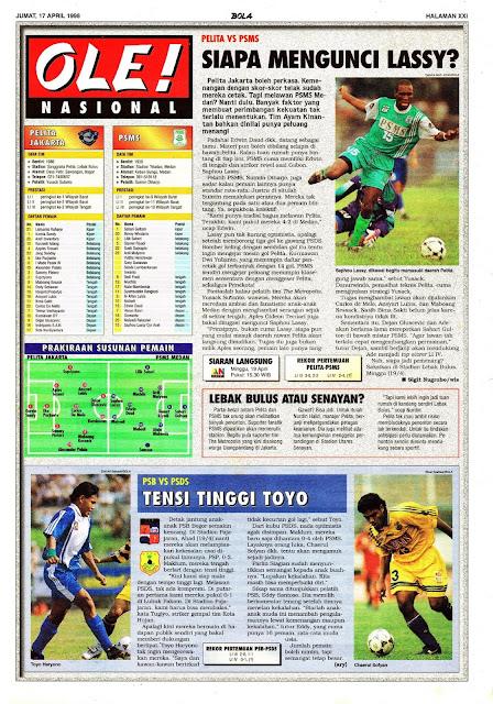 LIGA INDONESIA 1998 PELITA VS PSMS