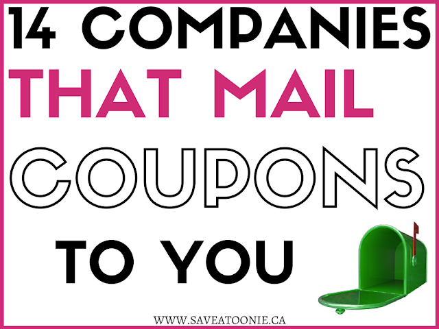 14 Companies That Will Mail You  Canadian Coupons
