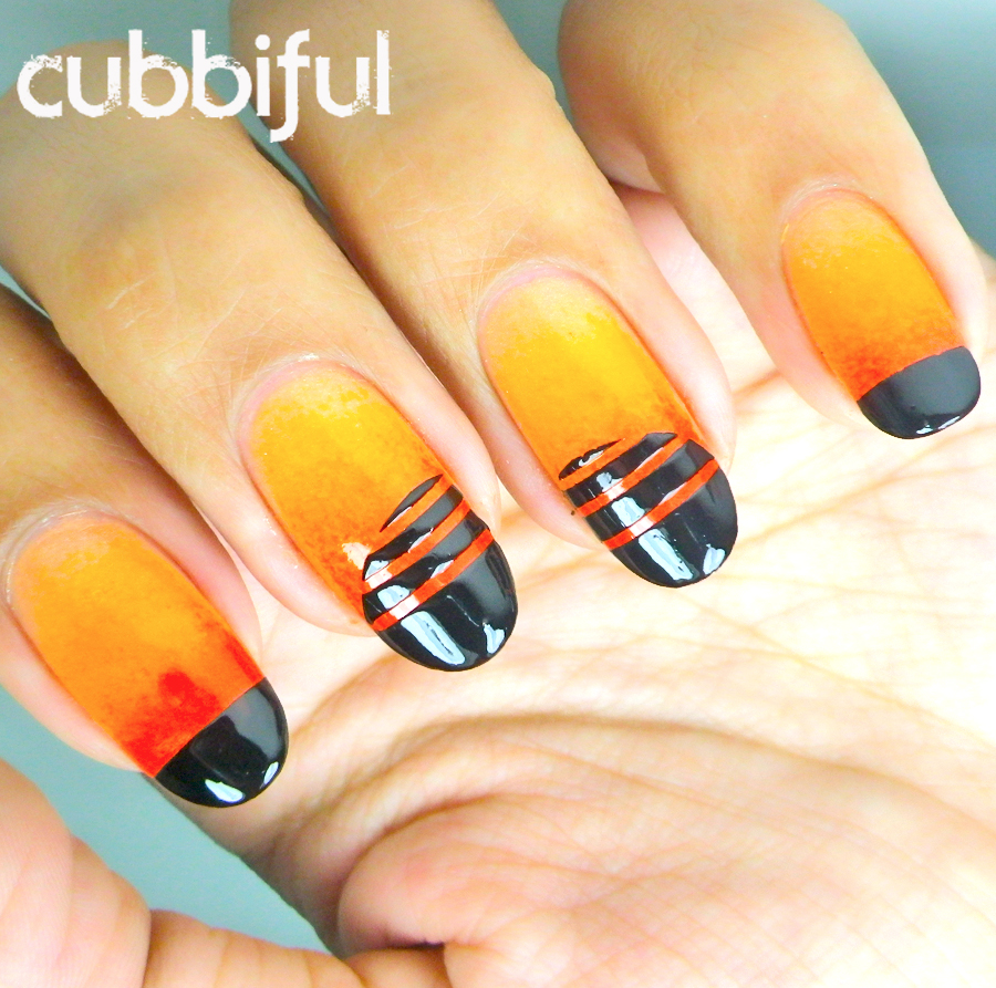 31DC2014 orange nails