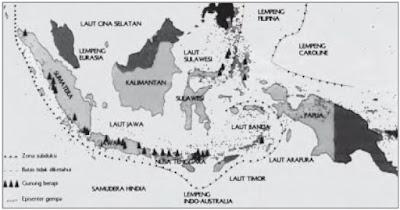 Jalur gunung api dan gempa bumi di Indonesia
