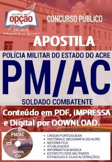 Apostila Polícia Militar-AC SOLDADO - Concurso PM/ACRE 2017