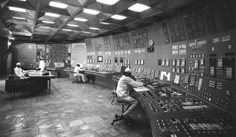 Central nuclear de Chernóbil, 1985.