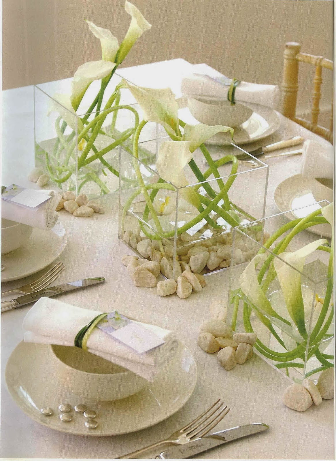 White Wedding Centerpieces