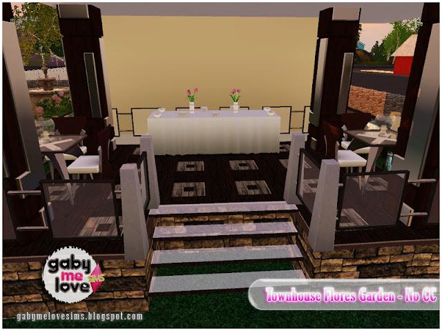Townhouse Flores Garden |NO CC| ~ Lote Residencial, Sims 3. Comedor.