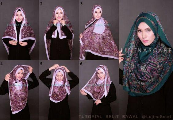Tutorial Hijab Segi Empat Simple Beauty C
