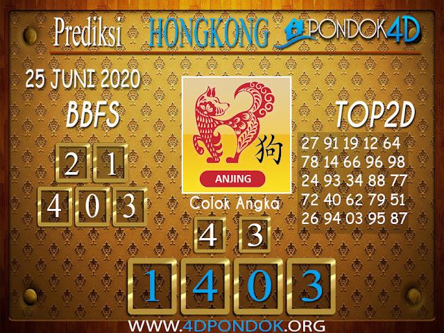 Prediksi Togel HONGKONG PONDOK4D 25 JUNI 2020