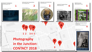 Photography Festival CONTACT 2018 in Junction, illustration map