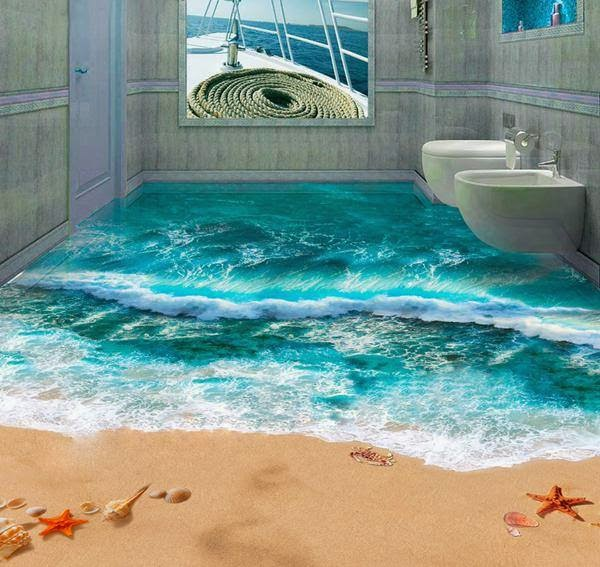 3d floor finishing design for bathroom