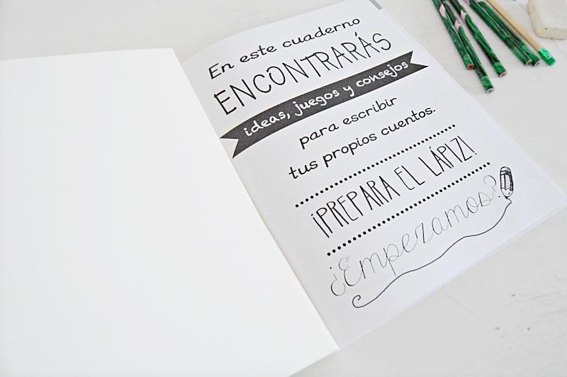 cuaderno para aprender a escribir cuentos