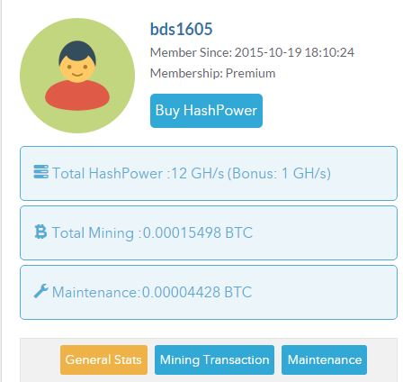 Free 1 GH/s Mining Bitcoin, Low minimum withdraw, instant