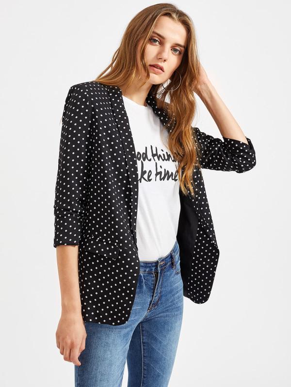 blazer polka dots