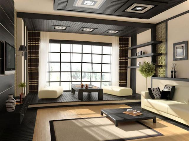 Thiết kế nội thất kiểu Nhật - Phòng khách sang trọng