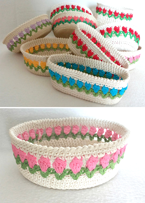 Spring Baskets - Free Pattern