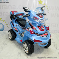 Motor Mainan Aki Pliko PK668RC ATV Blue