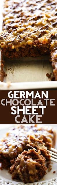German Chocolate Canvas Cake