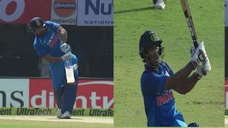 रोहित शर्मा और अंबाती रायडू ने विंडीज के खिलाफ चौथे वनडे में शानदार शतक ठोके