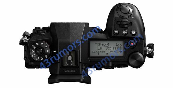 Panasonic Lumix G9, вид сверху