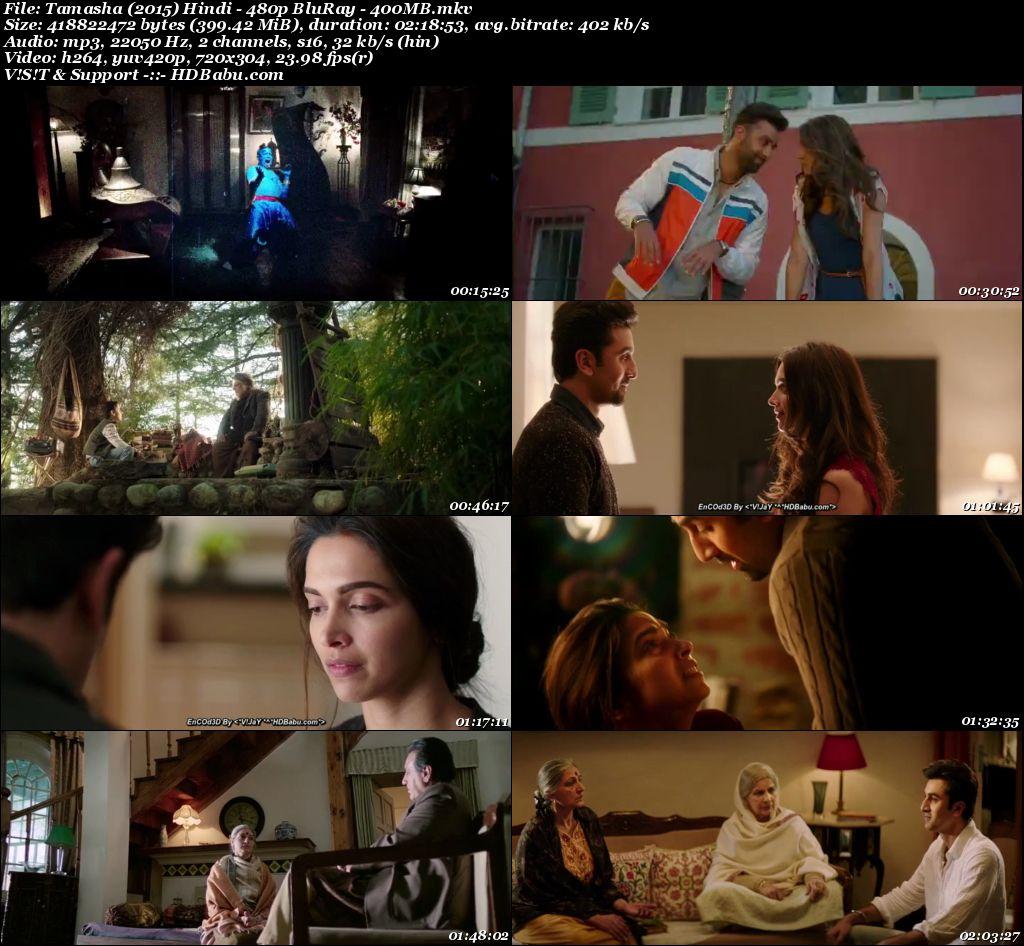 Tamasha (2015) Hindi - 480p BluRay - 400mb Screenshot