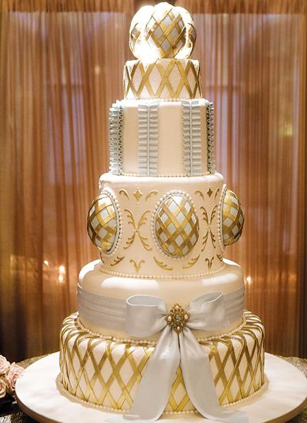 Gold Wedding Cakes 2016