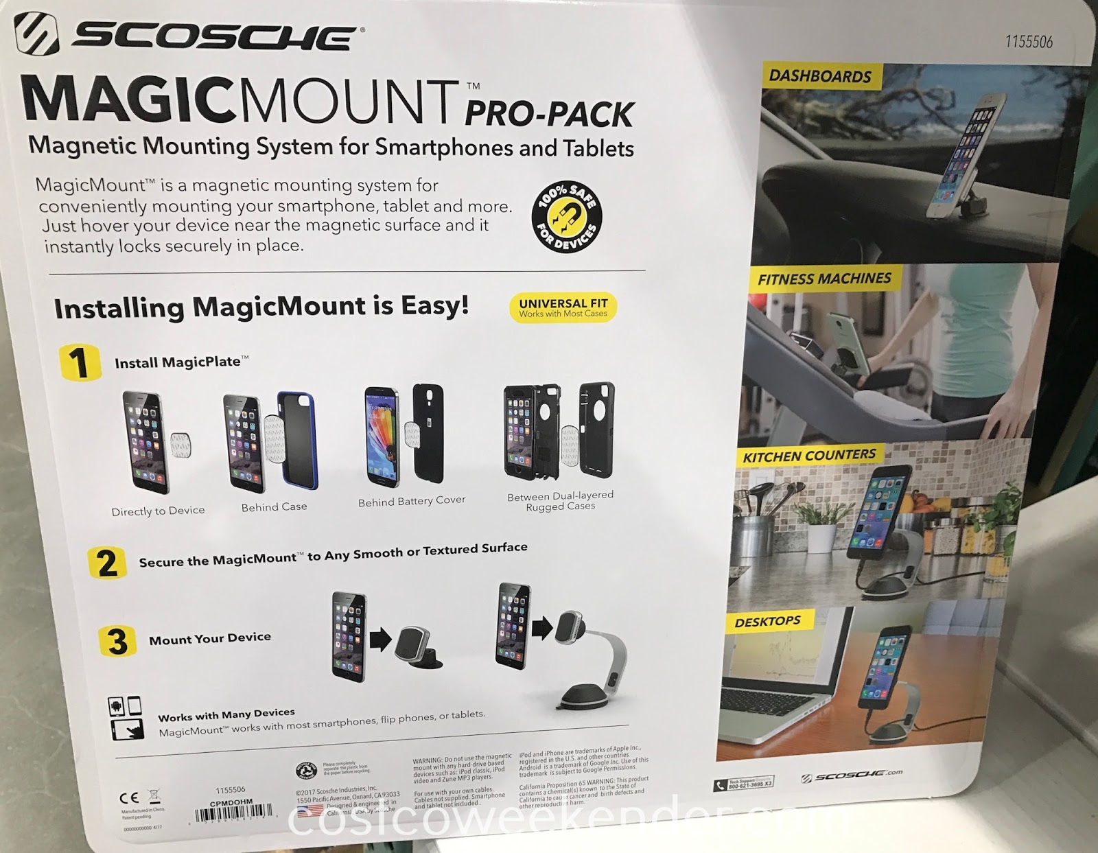 Costco 1155506 - Keep your device within reach with the Scosche Magic Mount Pro-Pack Magnetic Mounting System