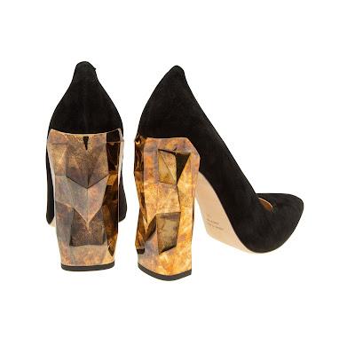 Darmaki Chanda Luxe Block Heel Pumps