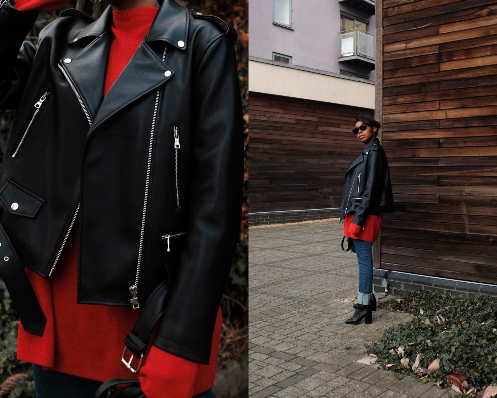 Stylenanda Korea Leather Biker Style Jacket Nanda Made